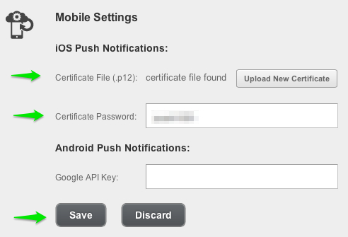 mobile settings - iOS Push Notifications with Backendless