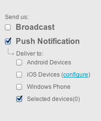 send push to selected devices - iOS Push Notifications with Backendless
