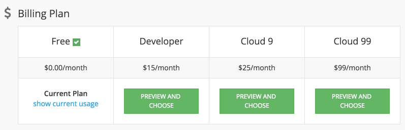 billingplan5x - Backendless Cloud Pricing