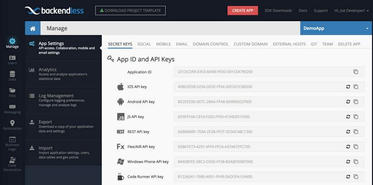 Backendless REST API Documentation