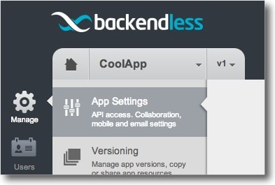 appsettings - Using Backendless API with Node.js