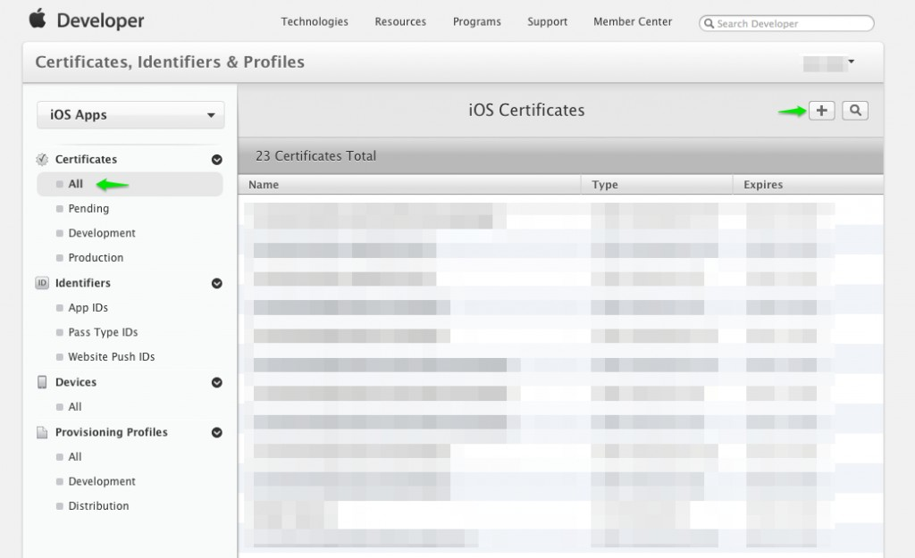 MemberCenterAddCertificate 1024x625 - iOS Push Notifications with Backendless