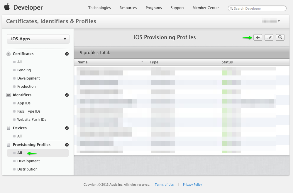 add provisioning profile - iOS Push Notifications with Backendless