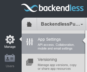 manage app settings - iOS Push Notifications with Backendless