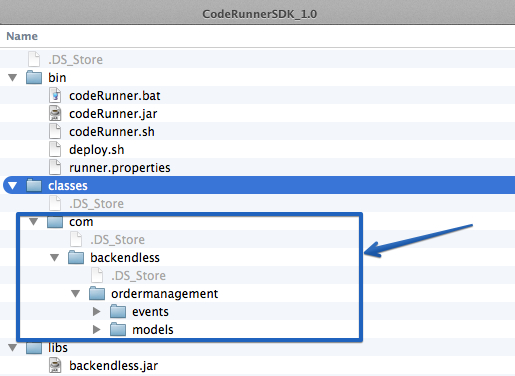 coderunner with compiled code - Getting Started with Custom Business Logic (mBaaS server code)