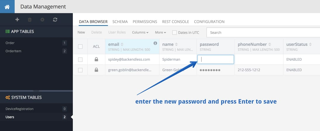 change user password - Feature 6: Changing user's password by administrator
