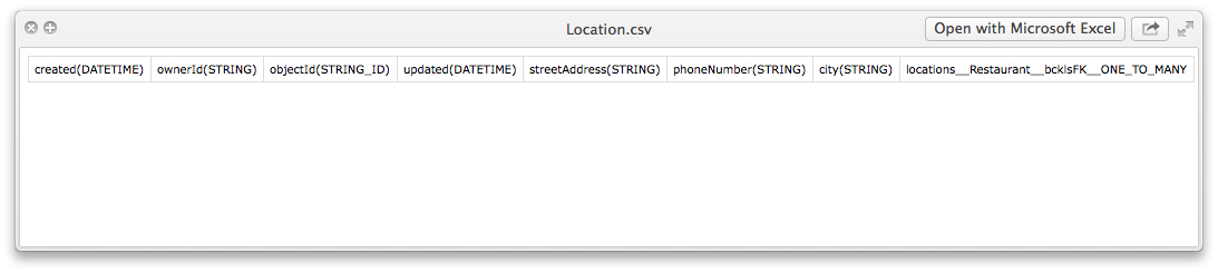 location csv contents - Feature 71: Assigning column types during data import