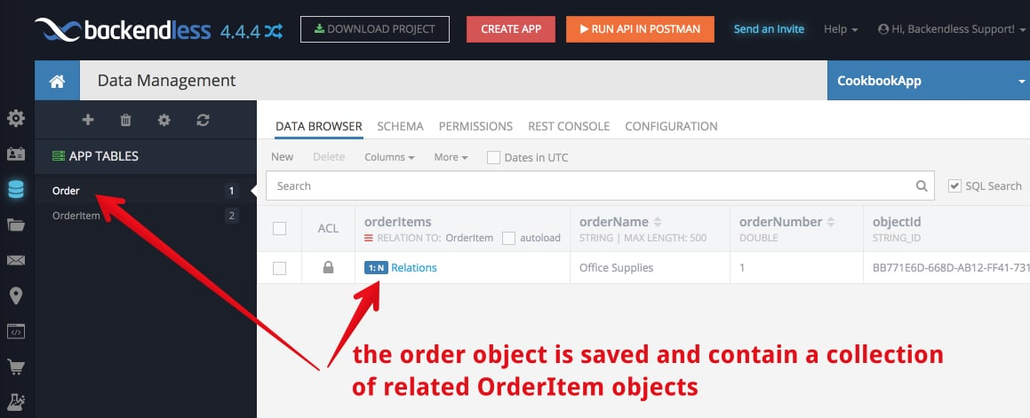 saved order - Feature 1: Saving Objects with Relations and Dynamic Schema Creation