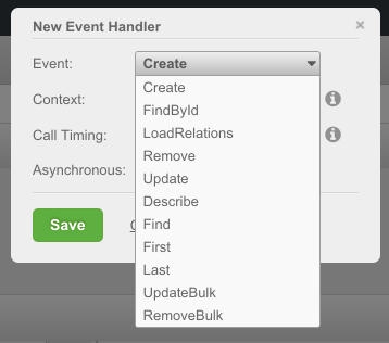 data service events - Feature 119: Custom server-side code to handle Data Service API events