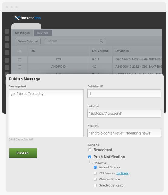 Push Notifications | Backend as a Service Platform