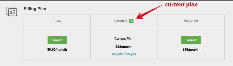 current plan - How billing plans work