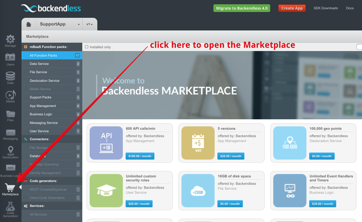 marketplace access - How billing plans work