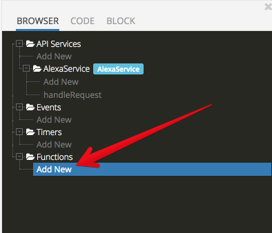 backendless api service step4 - Developing Alexa skill without writing any code - Part1 (Codeless in Backendless mBaaS)