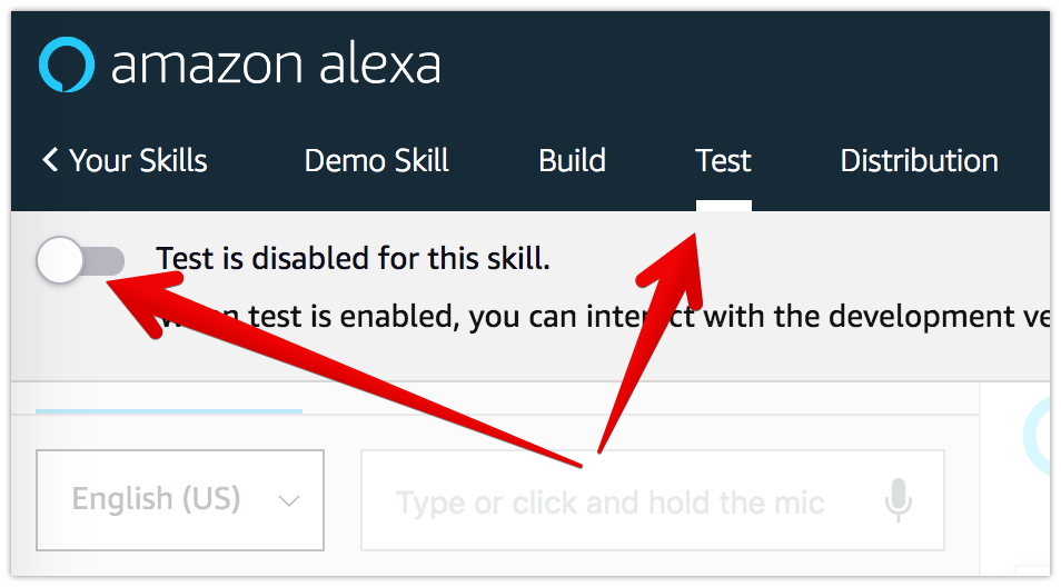enabling test - Developing Alexa skill without writing any code - Part1 (Codeless in Backendless mBaaS)