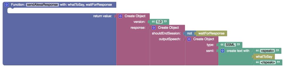 sendAlexaResponse function - Developing a custom Alexa skill to control an IoT device