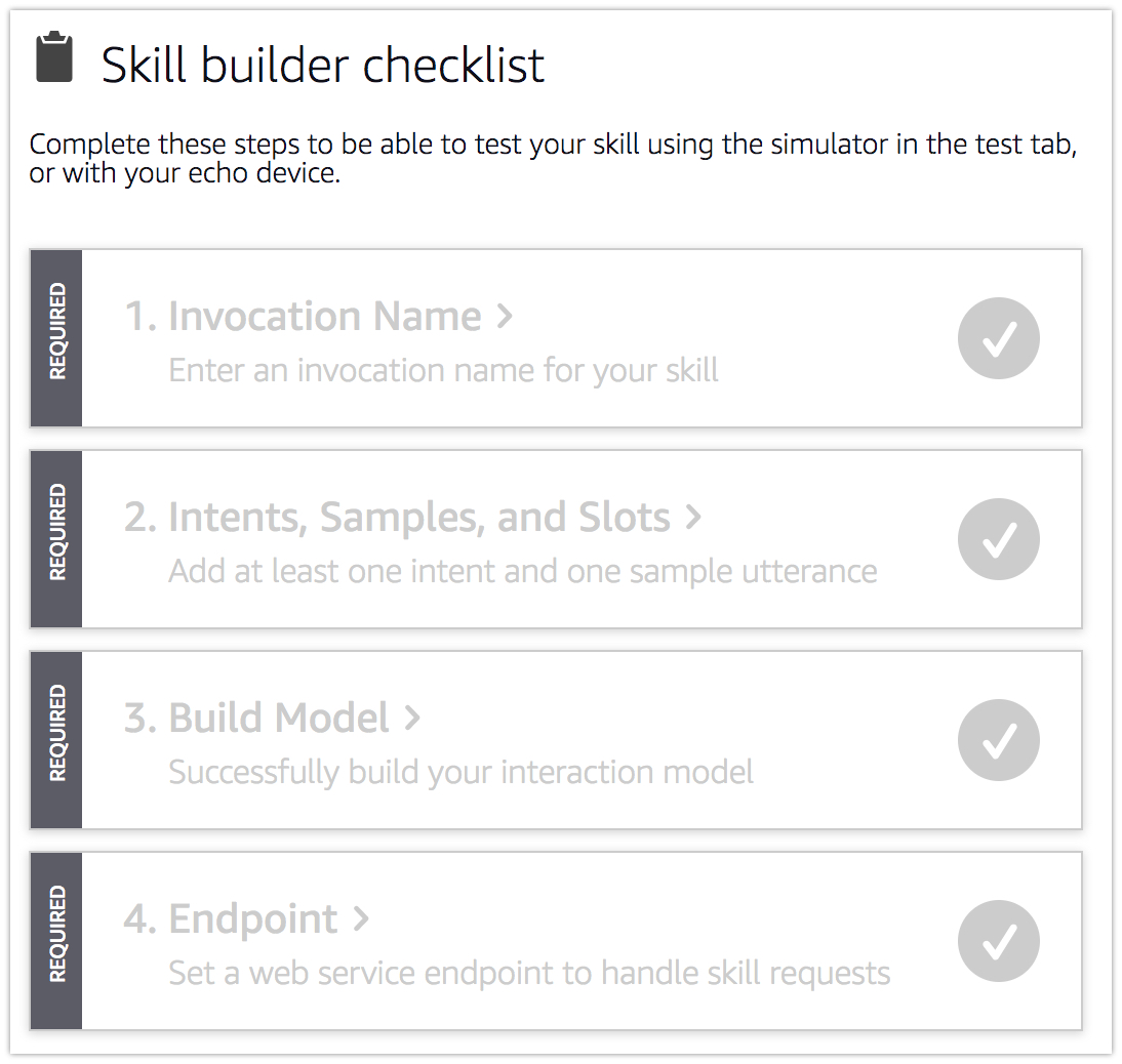 skill builder checklist demo skill - Developing Alexa skill without writing any code - Part1 (Codeless in Backendless mBaaS)