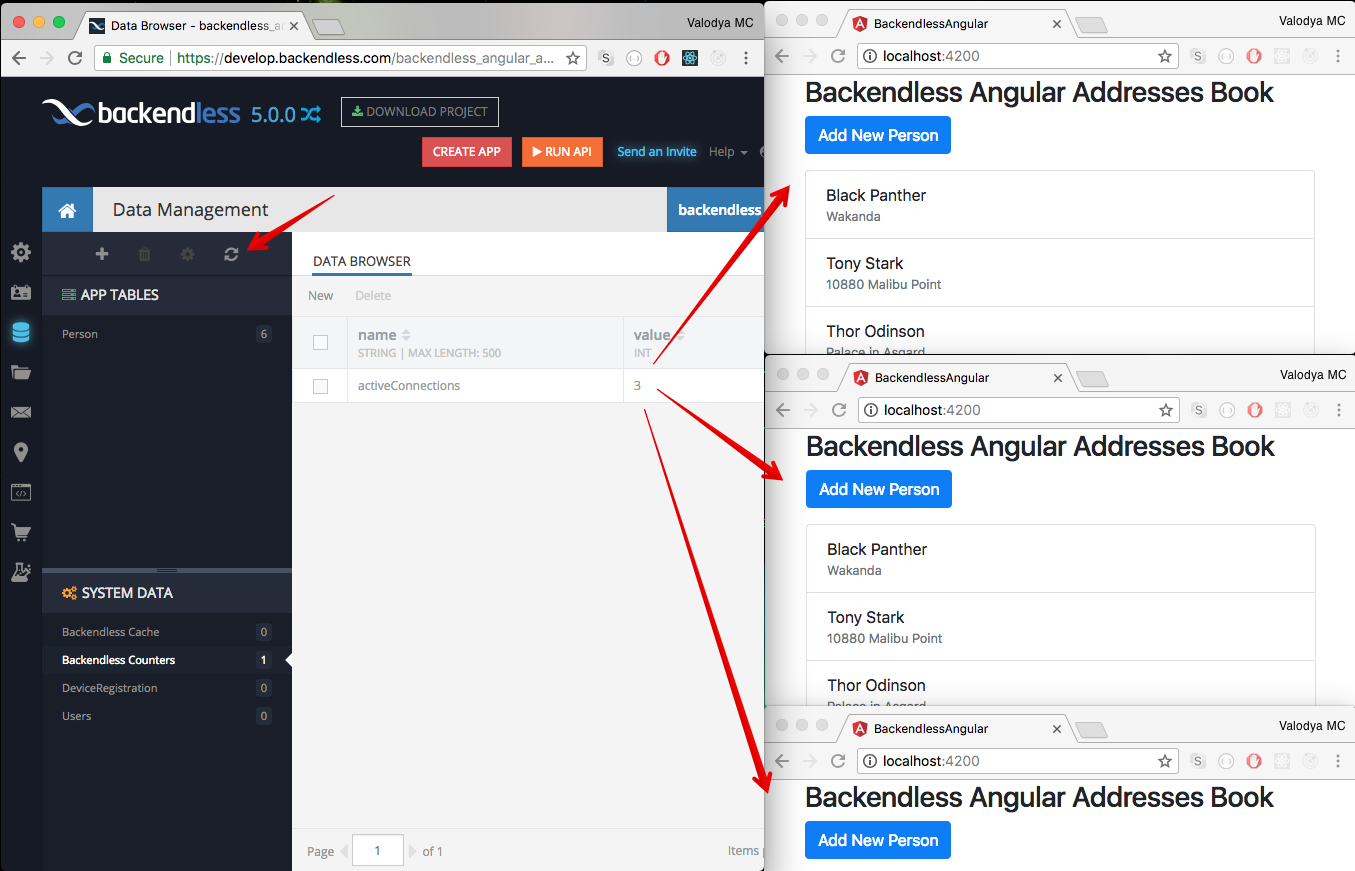 How to monitor Real-Time Connections in an Angular app | Backend as