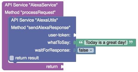sendAlexaResponse Codeless