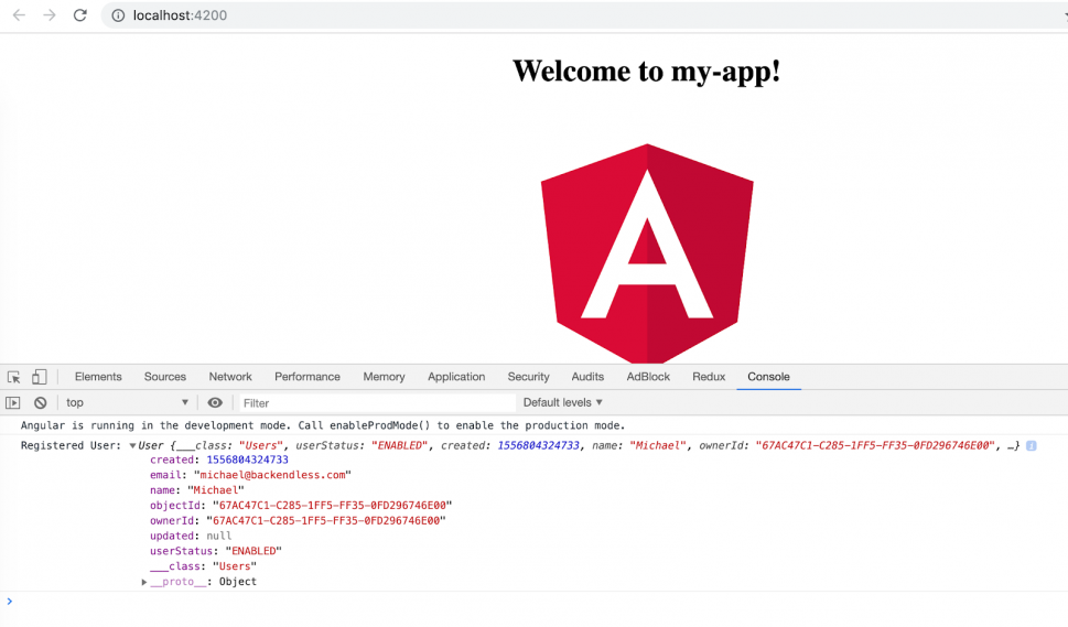 Angular app check browser
