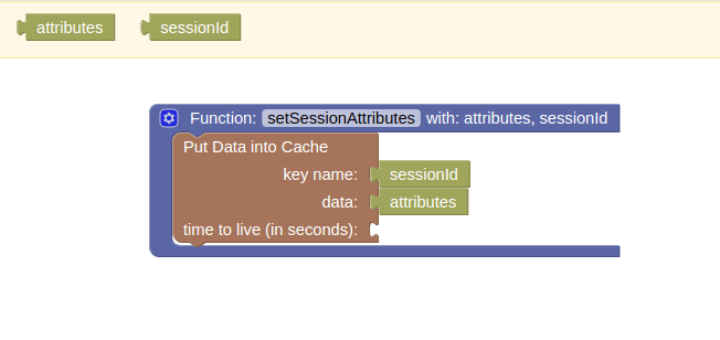 Codeless setSessionAttributes Function