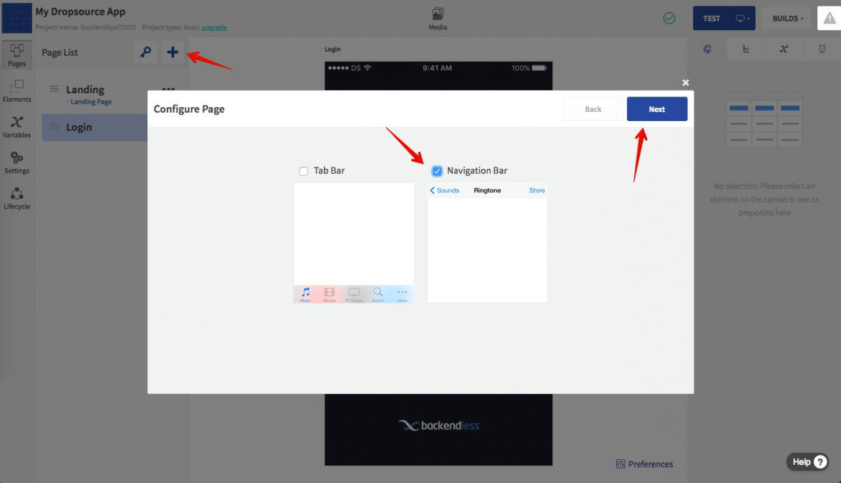Create ToDo Page with Navigation Bar
