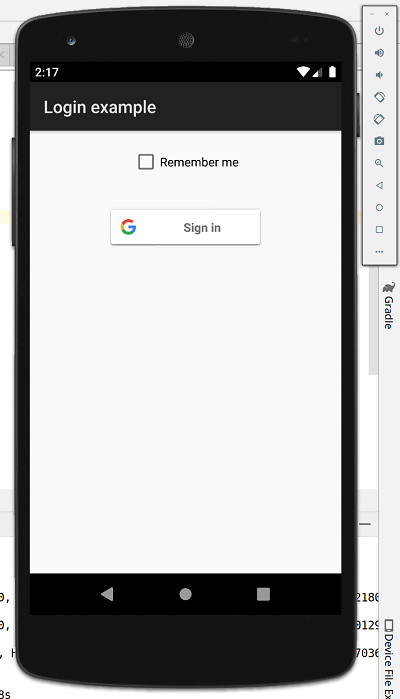 Login with Google App