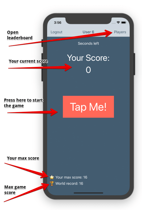 Tap Me score tracker diagram