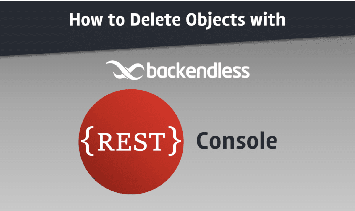 How to Delete Objects with REST Console