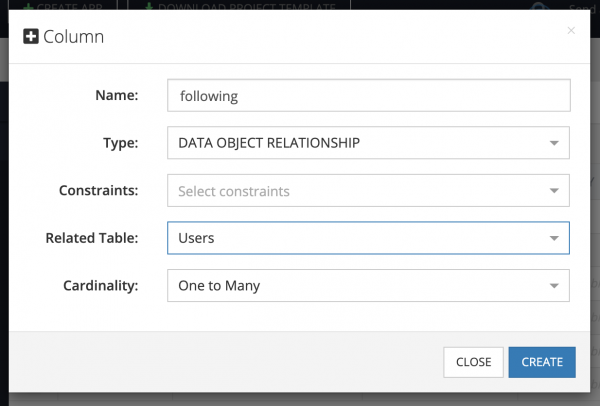 Create Data Relations in Backendless Console