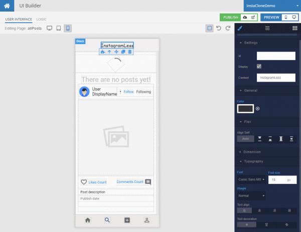 InstaCloneDemo App