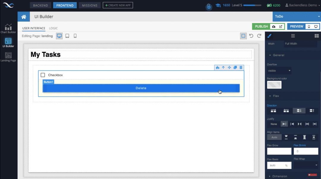 To-Do List UI Builder Screenshot