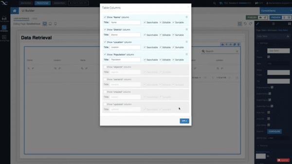 Data Retrieval in UI Builder
