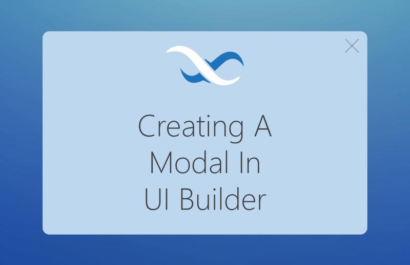 Create a modal in UI Builder Feature