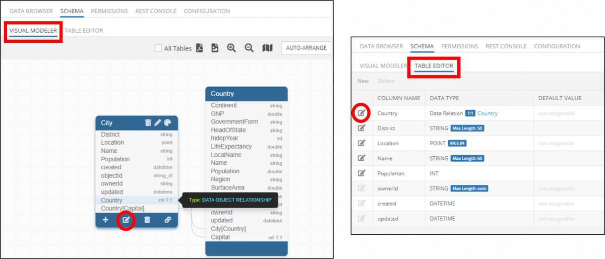 How to Edit Visual Data Relations ID Column