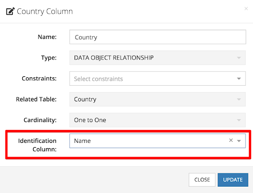 Identify column content to display