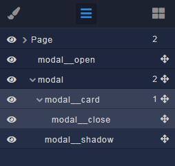 Modal UI structure