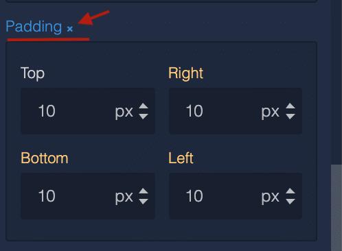 Reset block element styles in UI Builder 3