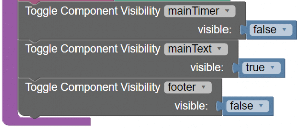 Visibility controls in Codeless
