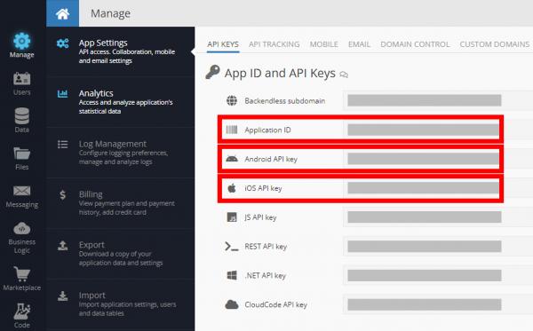 App IDs and API Keys